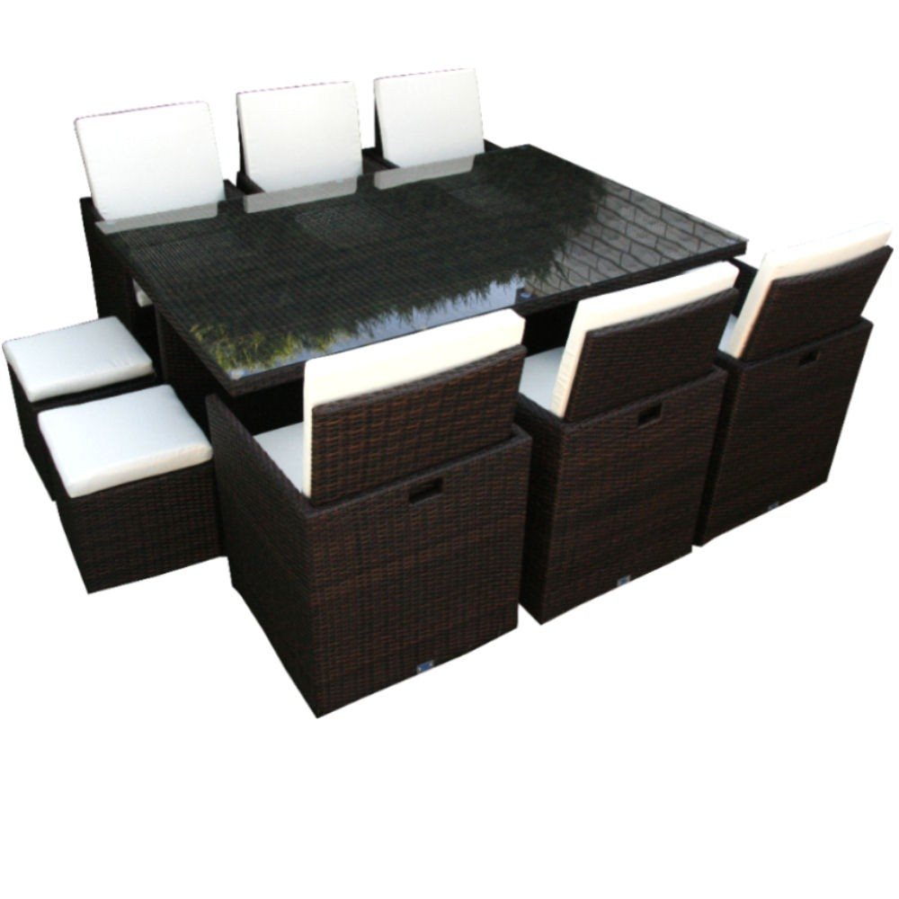 gartenm bel sitzgruppe rattan lounge. Black Bedroom Furniture Sets. Home Design Ideas